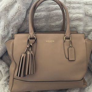 Coach Candace Sand Leather Tote
